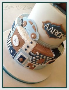 Baby Boy Patchwork Cake