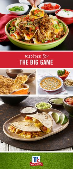 Good food is always a win. Get ready for your big football party with our favorite Game Day recipes including pulled pork nachos, macaroni and cheese, buffalo chicken dip and more.