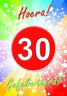 Verjaardag leeftijd posters bestellen bij warenhuis Bellatio. 30 jaar deurposter 59 x 42 cm, nu voor € 2.60, levering in 24 uur. Verjaardag leeftijd