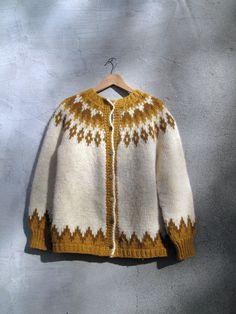 Vintage Nordic Icelandic Norwegian Sweater Classic Adorable Wool Small Medium in Sweaters   eBay