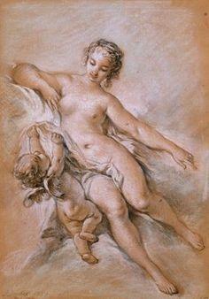 Venus and Cupid by Francois Boucher. Tags: aphrodite, afrodite, venus, afrodite…