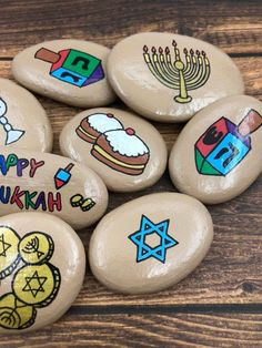 Engagement Story Stones Wedding Story Our Love Story The Happy Hannukah, Feliz Hanukkah, Happy Hanukkah Images, Story Stones, Engagement Stories, Engagement Gifts, Personalized Couple Gifts, Ppr, Painted Rocks
