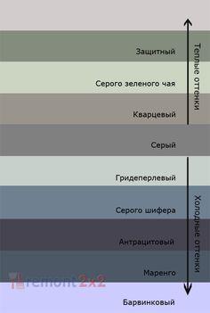 Теплые и холодные оттенки серого цвета
