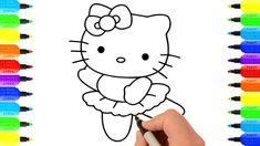 Đồ Chơi Tô Màu,Tô Màu Mèo Hello Kitty, Vẽ Tranh Và Tô Màu, How to Draw H...