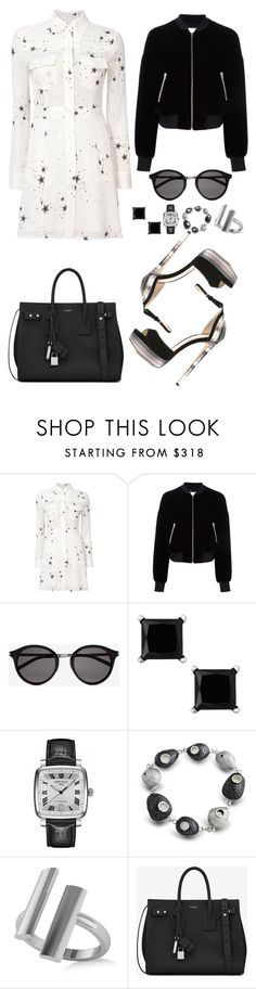 """Untitled #3798"" by fashionhypedaily ❤ liked on Polyvore featuring A.L.C., T By Alexander Wang, Yves Saint Laurent, Certina, Allurez and Jimmy Choo"