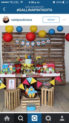Decoración fiesta Gallina 2nd Birthday, Happy Birthday, Lottie Dottie, Baby Party, Kids Decor, House Party, Holidays And Events, Party Time, Card Stock