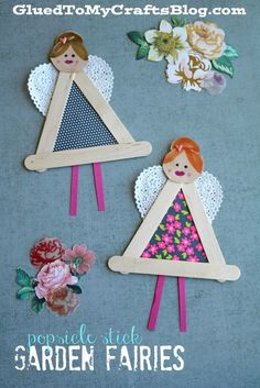 Popsicle Stick Garden Fairies - Kid Craft - Glued To My Crafts Popsicle Stick Garden Fairies - Kid Craft If you appreciate arts and crafts you will enjoy this cool site! Popsicle Stick Crafts, Craft Stick Crafts, Crafts To Do, Arts And Crafts, Popsicle Sticks, Craft Sticks, Craft Activities, Preschool Crafts, Crafts For Kids