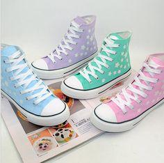 Korean kawaii stars canvas shoes · Fashion Kawaii [Japan & Korea] · Online Store Powered by Storenvy