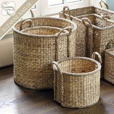 Suzanne Kasler Set of 3 Round Market Baskets - for Kitchen/Upstairs FR/Informal eating area.*