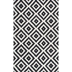 nuLOOM Handmade Wool Abstract Pixel Trellis Area Rug - On Sale - Overstock - 10273284 - 9' x 12' - Black