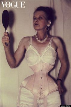 "Ethel Granger, Owner Of Smallest Waist Ever. She ""transformed"" her small 24 inch waist into this 13 in. with a corset."
