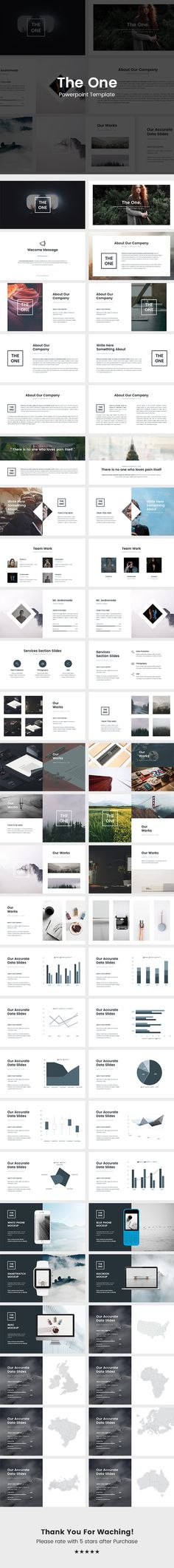 The One  Powerpoint Template  #white #fashion • Download ➝ https://graphicriver.net/item/the-one-powerpoint-template/18581474?ref=pxcr