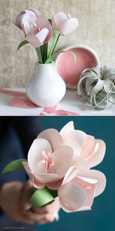 You can make this! Pattern and tutorial at www.LiaGriffith.com #Paperflowers: