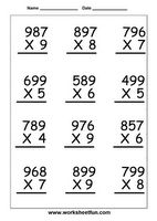 The Multiplying a 3-Digit Number by a 1-Digit Number