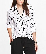The black piping elevates this shirt. Effortlessly classy and unique. Still $60, way too much.
