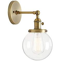 Permo Vintage Industrial Wall Sconce Lighting Fixture with Mini Round Clear Glass Globe Hand Blown Shade (Antique)Color:Antique Master Your Décor with Exciting Permo Lighting! -Only your imagination will limit you. for large entertaining spaces Vintage Industrial Lighting, Industrial Light Fixtures, Mid Century Light Fixtures, Retro Lighting, Kitchen Lighting, Lighting Ideas, Wall Sconce Lighting, Wall Sconces, Mirrors