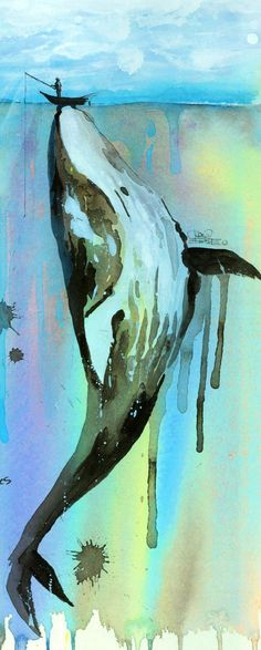 'Whalelala' by Lora Zombie - Fine Art Prints available in a variety of formats at Eyes On Walls - http://www.eyesonwalls.com/collections/fine-art-prints/artist-lora-zombie?utm_source=pinterest&utm_medium=ads&utm_content=WhalelalaLarge&utm_campaign=Lora%20Zombie