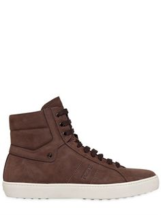 TOD'S - HOHE NUBUKSNEAKERS - LUISAVIAROMA - LUXURY SHOPPING WORLDWIDE SHIPPING - FLORENZ