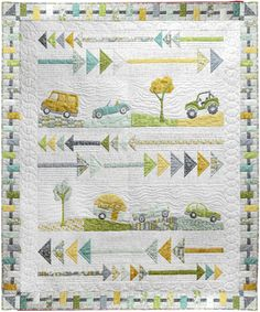Going Places Quilt Kit by Terri Degenkolb - Windham Fabrics Quilting Stitch Patterns, Boys Quilt Patterns, Sewing Patterns For Kids, Quilt Stitching, Fabric Patterns, Cute Quilts, Boy Quilts, Quilt Kits For Sale, Wool Applique Quilts