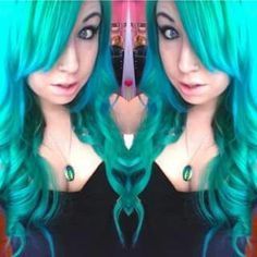 ArcticFox Cruelty-Free Vegan hair color, love this color mix Poseiden & Aquamarine Arctic Fox Hair Color, Cut And Color, Diy Hairstyles, Holiday Parties, Cruelty Free, Color Mixing, Colored Hair, Vegan, Hair Styles