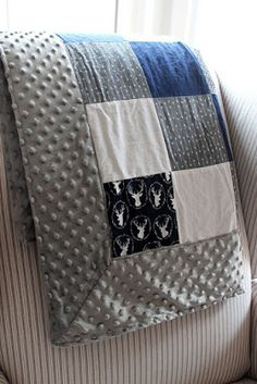 Get Your Craft On: Self Binding Minky Blanket