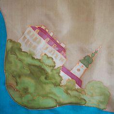Cestování po naší vlasti - zvolte si vlastní místo Přírodní hedvábný šátek, ručně malovaný, velikost 74x74 cm. Šátek je ilustrativní - toto je zámek v Benátkách nad Jizerou. Nabízím možnost malby zámku, náměstí, radnice, panorama, hory... podle Vašeho přání. Mohu namalovat šátek (vzor v jednom rohu) nebo na jednom konci šály. Zasílám v dárkové krabičce v ...