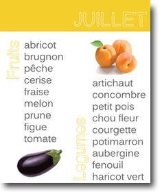 Fruits&légumes en juillet