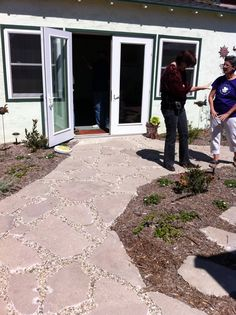 p - Like this!!   - recycled concrete. Can contractor make it look decent? (Better than this?)