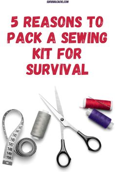 A sewing kit is one of those items that doesn't get much recognition as something to pack in a survival kit. They are not pretty but they are functional. Survival Cache, Survival Life Hacks, Survival Shelter, Survival Food, Survival Prepping, Survival Skills, Emergency Preparedness Kit, Emergency Preparation, Sewing Kit