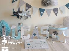 Star and cloud theme baptism presentation, pastel blue, oil and gray www.maison-of-the … Source by maisondesdelice Theme Bapteme, Western Decor, Pastel Blue, Home Decor Styles, Communion, Christening, Baby Room, Baby Shower, Invitations