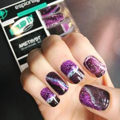 There's beauty in imperfections, and while all gemstones have them, they are perfect just the way they are. Amethyst embodies this sentiment with its luxurious purple and violet hues. This design atte Nerd Makeup, Nail Art Games, Beauty Science, Types Of Craft, Nail Tutorials, Nail Wraps, Just The Way, Diy Nails, Manicures