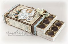 Cardville- Elizabeths Kreative sider: Tutorial: Decorating a chocolate box Scrapbook Box, Scrapbooking, Diy And Crafts, Paper Crafts, Memory Album, Sweet Box, Altered Tins, Magnolia Stamps, Chocolate Decorations