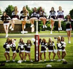 Think we could get some girls on top of the soccer goal? Cheer Coaches, Cheer Stunts, Cheer Dance, Cheer Mom, Cheer Picture Poses, Cheer Poses, Picture Ideas, Cheer Team Pictures, Team Photos
