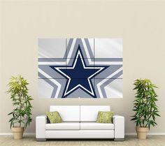 Dallas Cowboys Giant Wall Art Poster NFL111  eBay