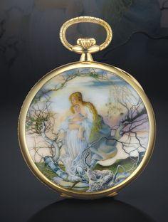 Patek Philippe gold and enamel pocket watch