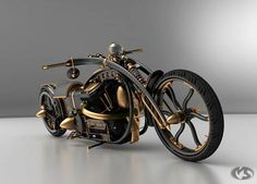 steam punk motorcycle WOW this is an amazing bike... it's like a pece of art. Solifague Design studio
