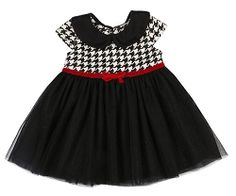 Mini Mini Carols Houndstooth Dress