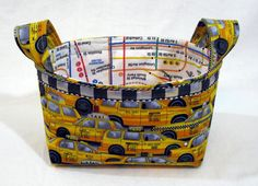There is awell-known quilter andcrafter named Ayumi Mills, with a fabulous blog called Pink Penguin . She posted a fabric basket tutoria...