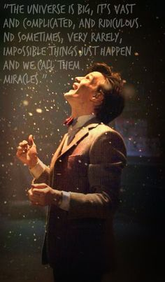 Matt Smith, in addition to David Tennant he is one of the best to play The Doctor on Doctor Who. The Doctor, Serie Doctor, Tenth Doctor, Eleventh Doctor Quotes, Watch Doctor, David Tennant, Dr Who, Breaking Bad, Tardis