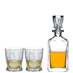 fire-whisky-set-2-tumblers-1-decanter  #Riedel #crystal #wine #glass #RiedelSA Liquor License, Crystal Decanter, Whisky, Barware, Wine Glass, Alcohol, Fire, Crystals, Tumblers