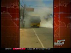 Se Incendia Bus De Caribe Tours Que Salió De Santiago #Video