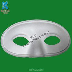 Paper Pulp Masks, White Zorro Masks, Half Face Masks, Blank Masks