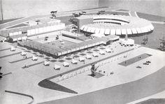 Maqueta del Proyecto, Museo del Folklore (Artes populares en México), México DF 1962  Arq. Héctor García Olvera -  Project proposal model, Folklore Museum (Popular Arts in Mexico), Mexico City 1962