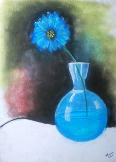 the blue flower...soft pastel