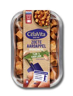 Loaded sweet potato met vegetarische kipstukjes - CêlaVíta.nl Loaded Sweet Potato, Chips, Potatoes, Snacks, Food, Drinks, Appetizers, Beverages, Potato Chip