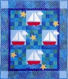 Sail Away  Baby Child Quilt Pattern by the Country Quilter 209