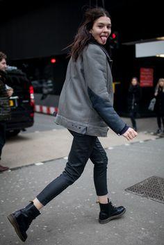 London Fashion Week street style. [Photo by Kuba Dabrowski]