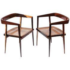 Pair of Armchairs by Joaquim Tenreiro at 1stdibs