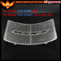 32.67$  Watch now - http://aio01.worlditems.win/all/product.php?id=32782525442 - New CNC Stainless Steel Motorcycle Radiator Grille Guard Cover Protector For Suzuki GSX-S1000 2015 GSX-S1000F 2015 2016 2017