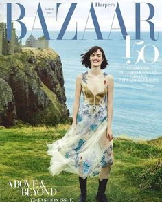 Celebrating the 150th anniversary of Harper's @Bazaaruk with a cover of British model Sam Rollinson looking 'elegant with a dash of daring' in the 'L'Amoureux' embroidered tulle dress from #MariaGraziaChiuri's Spring-Summer 2017 collection.  via DIOR OFFICIAL INSTAGRAM - Celebrity  Fashion  Haute Couture  Advertising  Culture  Beauty  Editorial Photography  Magazine Covers  Supermodels  Runway Models